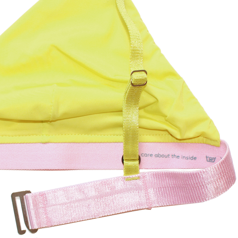 thezoo bra yellow pink sun powder detail
