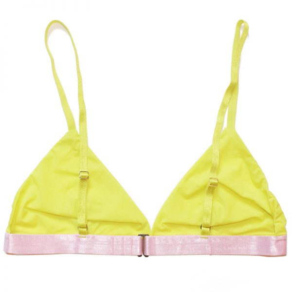 thezoo bra yellow pink sun powder back