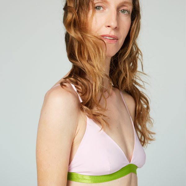 bra thezoo pink orchid green body