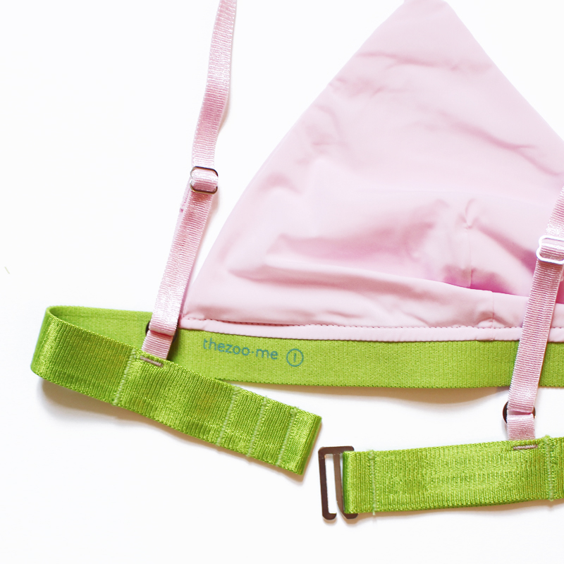 bra thezoo pink orchid green detail