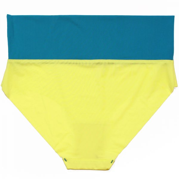 thezoo panty yellow petrol blue back