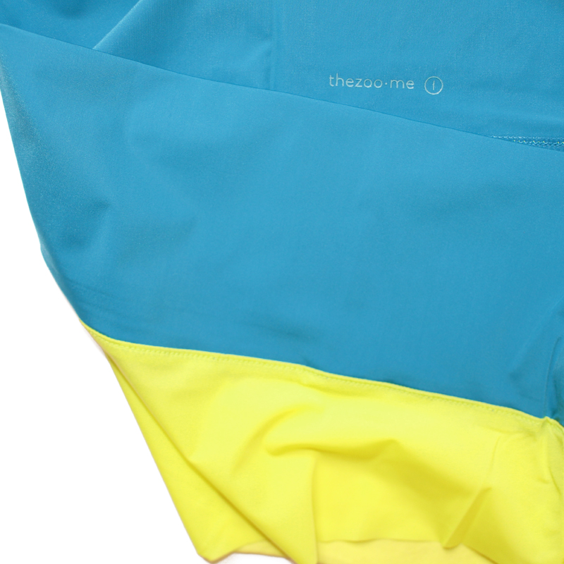 thezoo panty yellow petrol blue detail