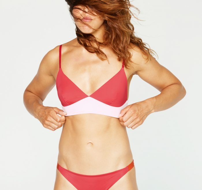 thezoo bralette red powder rot rosa
