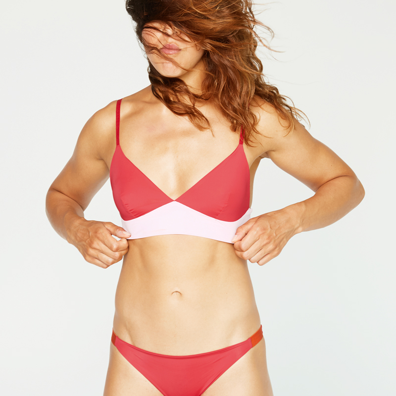 thezoo bralette red powder pink