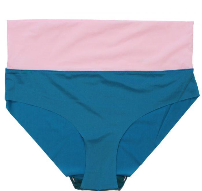 thezoo pant blue petrol pink