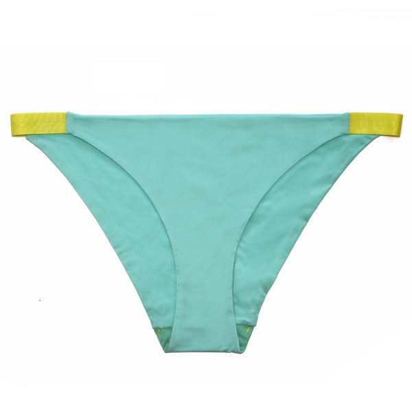slip mint green yellow
