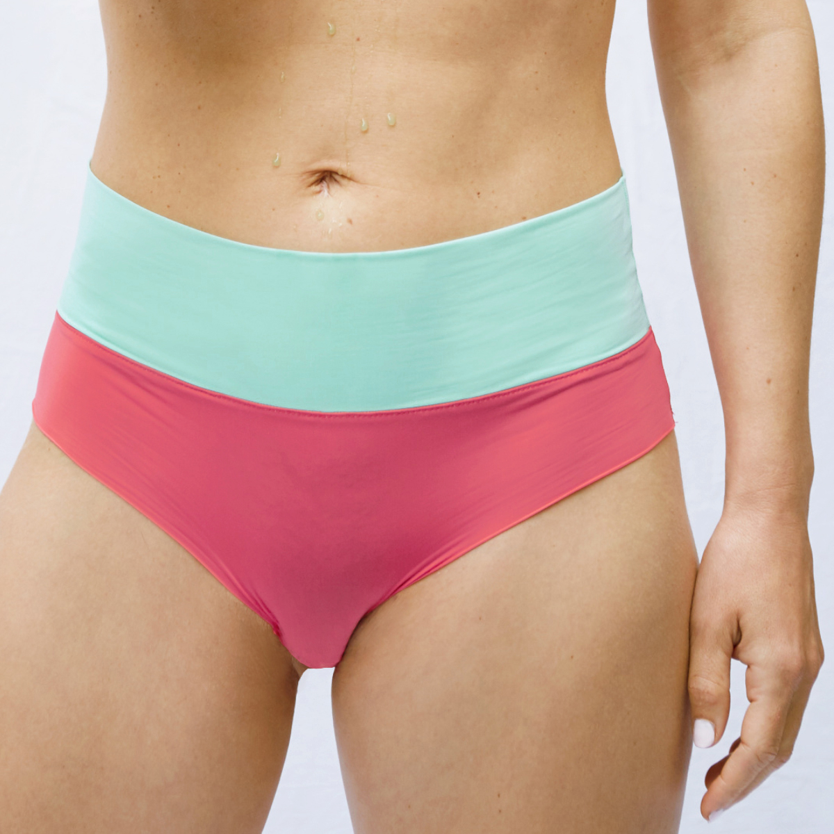 thezoo panty red coral mint green