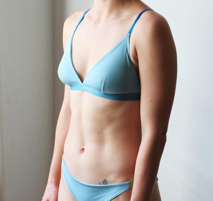 thezoo bra bralette modal stoneblue blue