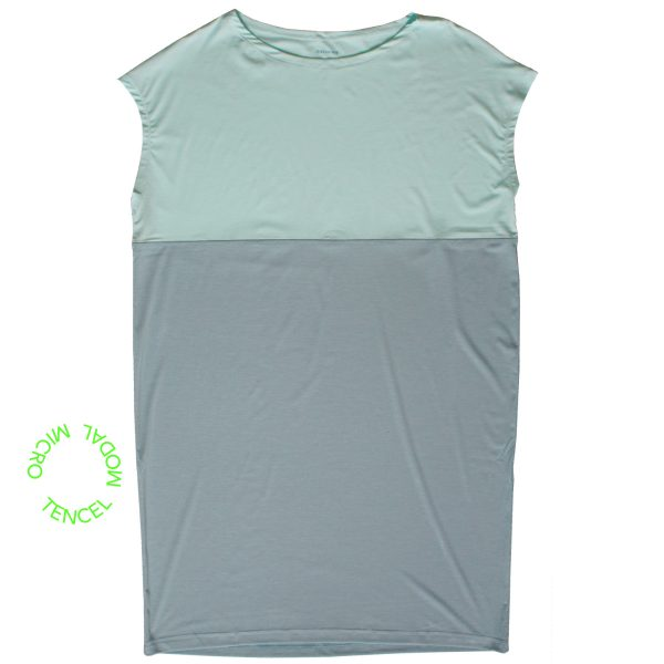 nightwear shirt mint green stoneblue blue